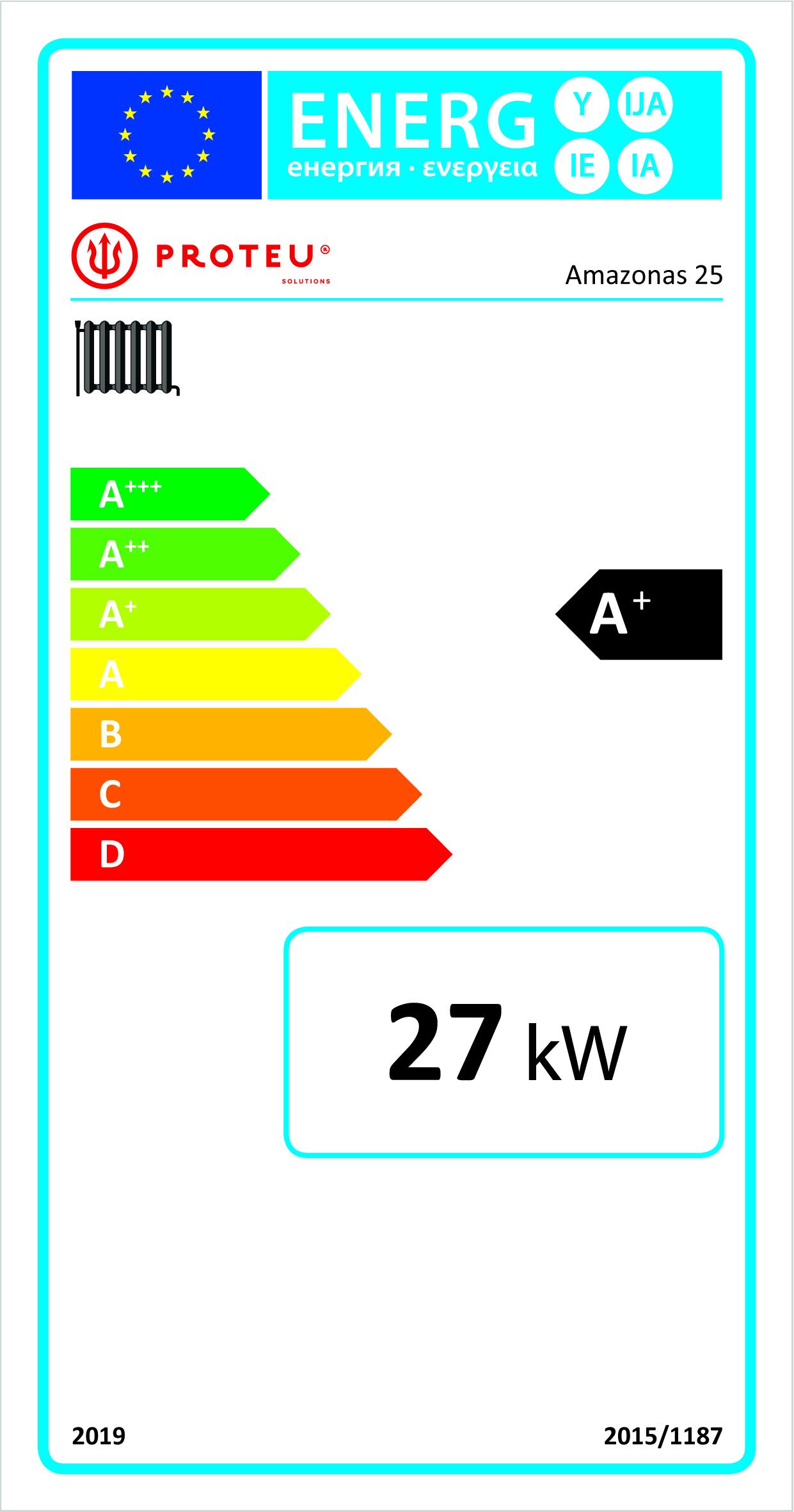 Etiqueta energética amazonas 25